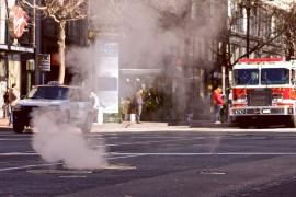 Dampfende Strasse